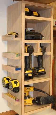 Suzi Wood Working Storage Tower - modify tree with these extras Call today or stop by for a to., Storage Tower - modify tree with these extras Call today or stop by for a to. Storage Tower - modify tree with these extras Call today or st. Diy Storage Tower, Diy Garage Storage, Shed Storage, Garage Organization, Storage Hacks, Organizing Ideas, Storage Solutions, Power Tool Storage, Garage Shelving