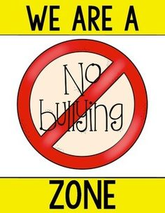 No Bullying Poster FREEBIE from Class of Kinders! Need more for Bullying? …check my TpT store for a poster set and an emergent reader too! $