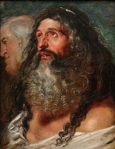 """Study of Two Heads"" - Peter Paul Rubens"