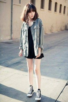 Grunge Style uploaded by Amy on We Heart It Grunge Outfits, Mode Outfits, Grunge Fashion, Casual Outfits, Grunge Clothes, Casual Dresses, Asian Fashion, Look Fashion, Girl Fashion