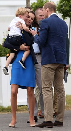 Prince George stole the show in as he joined his parents at RAF Fairford in Gloucestershire for the Royal International Air Tattoo, the largest event of its kind in the world.