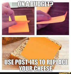 budget, stickynote, cheese