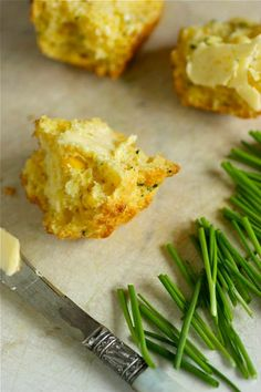 Double Corn and Chive Muffins