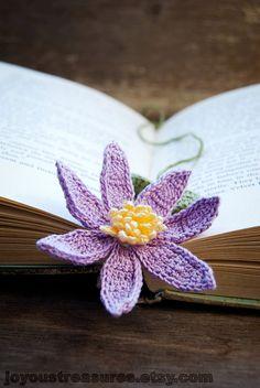 Handmade Crochet Flower Bookmark Purple by joyoustreasures on Etsy, $16.00