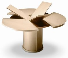 Ronda de madera extensible Mesa de comedor