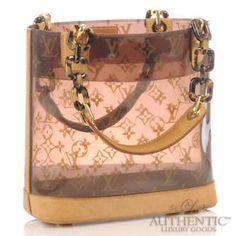 4966f775ccc3 Louis Vuitton Ambre Bucket Handbag Brown Clear Plastic Monogram Shoulder Bag  LV