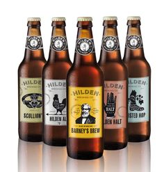 The Hilden Brewing Co. range of beer labels designed by Elm House Creative.