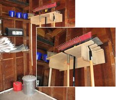 Woodworkers Journal : Portable Power Tool Techniques : Garage Tool Organizer