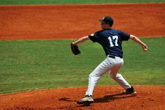 Pitcher John Doherty throws a pitch during a game at the Perfect Game Showcase in East Cobb, GA; circa 2012.