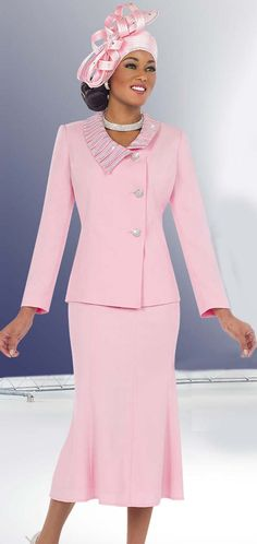 67f25a328018 Fifth Sunday 52826-Pink Embellished Collar Church Suit With Pleated Skirt  Sunday Church Outfits,