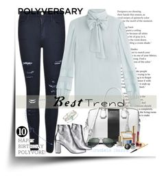 """""""Celebrate Our 10th Polyversary!"""" by grachy ❤ liked on Polyvore featuring MICHAEL Michael Kors, Frame, RED Valentino, Ray-Ban, Yves Saint Laurent, Topshop, Estée Lauder, polyversary, contestentry and polyvoreeditorial"""