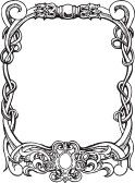Beautiful decorative floral frame, art nouveau design element stock photography