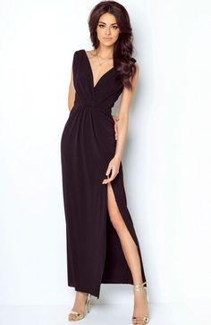 6083b6f58e Ivon Dalia sukienka czarna Zjawiskowa długa sukienka