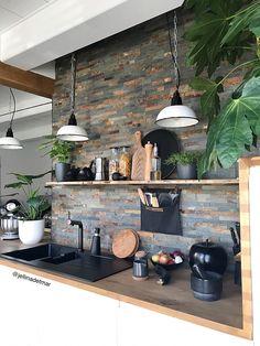 New Ideas House Interior Cosy Salons Home Decor Kitchen, Interior Design Kitchen, New Kitchen, Home Kitchens, Diy Home Decor, Awesome Kitchen, Kitchen Ideas, Room Decor, Vintage Industrial Decor