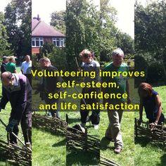 #Volunteering improves self-esteem, self-confidence and life satisfaction.