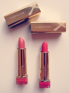 Max Factor Colour Elixir Lipstick Pink Brandy (825) & Bewitching Coral (827)