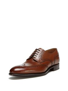 Wingtip Oxfords by Santos by Carlos Santos at Gilt