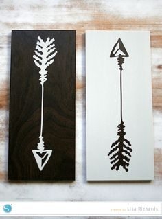 (image) Arrow and Negative Space Art