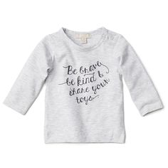 BE BRAVE LONG SLEEVE TOP