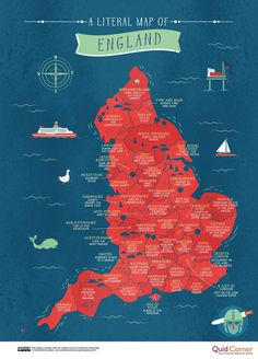 This series of brilliant maps reveals the literal meaning of every county name in the UK prima.co.uk Map Of Great Britain, Kingdom Of Great Britain, Uk History, British History, History Of England, Today In History, England Map, Anglo Saxon History, Place Names