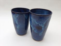 Pair of Handmade Pottery Tumblers by JaysClay on Etsy, $28.00
