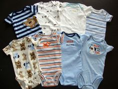 Baby Boy Carters onesies 0-3 and 3 months