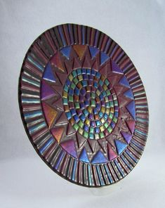 Fused Glass Platter  Deepest Plum and by AlteredElementsGlass, $325.00