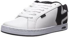 EtniesFADER - Scarpe da Skateboard Uomo  , Bianco (Weiß (120/WHITE/DARK GREY)), 39
