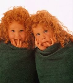 Red hairy twins