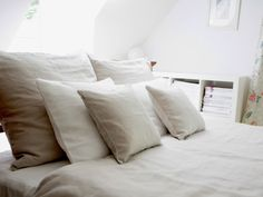 Linen bedding 100  Linen  Natural Queen size by MoodsStore on Etsy, $259.00