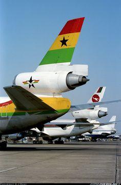 Ghana Airways McDonnell Douglas DC-10-30 @ LHR 1983