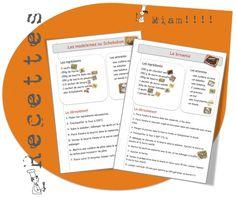 12 recettes de cuisine...avec ma classe : les madeleines au Schokobon, le brownie, le cake aux carambars, ...