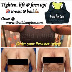 FAVORITE ITEMHow to get firmer breasts without surgery Yes with all-natural and proven results. Theres really no need for you to rush on the surgery table. Get back the youthful and perky looks of your cleavage. This top will create greater muscle activation which results in a greater upper body caloric expenditure. Whether you are an AA or DD everyone wants their boobs to be nice and perky. Order your Perskster today.  Tighten and firm boobs and flatten those love handles. Let it burn…