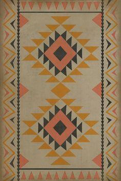 Pura Vida Home Decor - Pattern 62 Walkabout vinyl floor cloth, $50.00 (http://stores.puravidahomedecor.com/pattern-62-walkabout-vinyl-floor-cloth/)