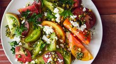 Tomato Salad with Feta Recipe | Bon Appetit