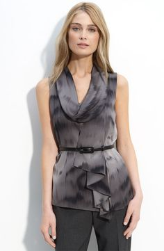 Belted Silk Blouse