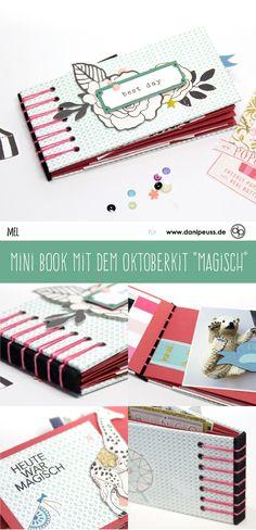 "Mini Album mit belgischer Bindung mit dem Oktoberkit ""magisch"" | von Mel für www.danipeuss.de | #danipeuss #scrapbooking #minialbum #minibook"