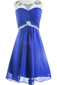 Online Shopping 2015 Summer Fall Homecoming Dresses For 8th Grade Graduation Girls Gowns Hot Sale Cheap Crew Neck Crystal Short Backless Chiffon Prom Wear 70.49   m.dhgate.com