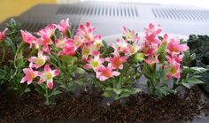 tips: miniature landscaping, Really good, uses parts from ARTIFICIAL flowers (RM) New England Miniatures blog