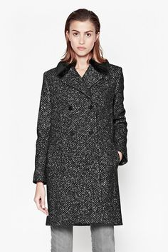 Willow Wool Double-Breasted Coat | Sale | French Connection