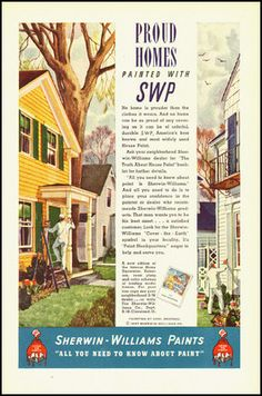 Vintage Sherwin-Williams Paint Ad