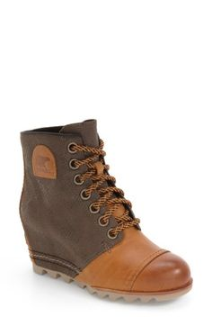 48ab74fb160 Free shipping and returns on SOREL  1964 Premium Canvas  Waterproof Wedge  Bootie (Women