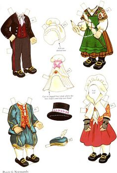 French boy and girl* 1500 free paper dolls at artist Arielle Gabriel's The… Paper Toys, Paper Crafts, French Costume, French Boys, Paper Doll House, Preschool Projects, Paper Dolls Printable, Folk Costume, Free Paper