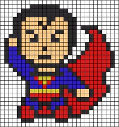 Superman perler bead pattern