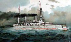 SMS Kaiser Friedrich III-class battleship.