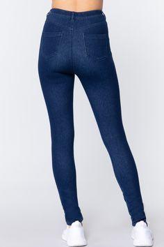 Knit Denim Jeggings   KjSelections Jeggings, Sexy Jeans, Skinny Jeans, Jean Sexy, Dress Making, Indigo, Spandex, Denim, Knitting