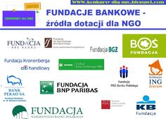 edną z ważniejszych grup darczyńców, która wspomaga organizacje pozarządowe nie tylko finansowo, są tzw. fundacje bankowe, czyli fundacje ufundowane przez instytucje bankowe. Prezentujemy przegląd takich własnie organizacji i zachęcamy do starania się o ich wsparcie.  http://konkursy-dla-ngo.blogspot.com/2013/02/zroda-dotacji-dla-organizacji.html