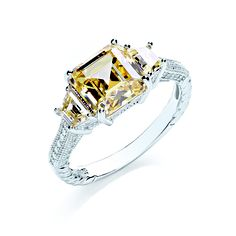 BOUTON three stone yellow dress ring