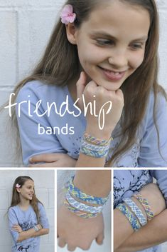 Make your own friendship bands out of twine or wool