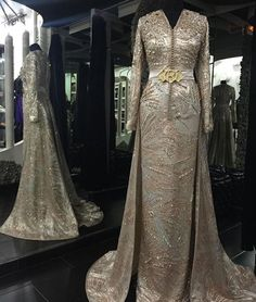 Moroccan gold caftan by the Moroccan designer @romeo_haute_couture » #moroccancaftan#morocco
